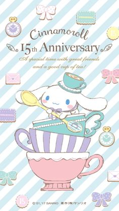 Cinnamoroll Stop watch with twelve tea cups  that. rotate for chairs!   Fairiswheel