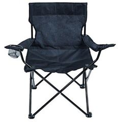 #Royal black compact #chair with arms & cup #holders - camping/travel essential ,  View more on the LINK: 	http://www.zeppy.io/product/gb/2/111654880229/