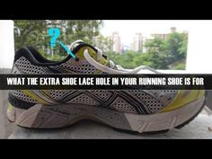 Have you ever wondered what the extra hole in your running shoe really does? Turns out there is a reason why it is there. When you string your lace through i. Keep Running, How To Start Running, Running Tips, Running Shoes, Run Like A Girl, Just Run, Girls Be Like, Running Inspiration, Half Marathon Training