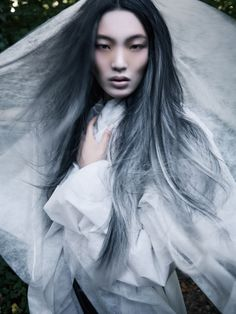 Black and silver hair