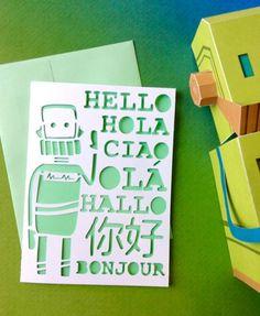 Hola Traductor Bot - tarjeta de felicitación JW