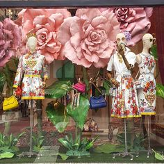 """DOLCE&GABBANA, Madison avenue, New York, """"But she, that dares not grasp the thorn. Should never crave the rose"""", photo by Vitrines NYC, pinned by Ton van der Veer"""