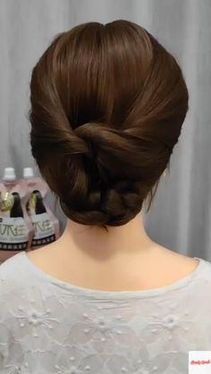 Bun Hairstyles For Long Hair, Girl Hairstyles, 1800s Hairstyles, Indian Bun Hairstyles, Ballet Hairstyles, Short Hair Updo, Hair Up Styles, Medium Hair Styles, Hair Videos