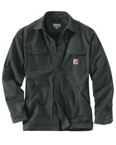 1ebe024cc319 Carhartt Men s Shadow Full Swing Quick Duck Overland Shirt Jac  workwear