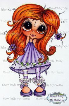 INSTANT DOWNLOAD Digital Digi Stamps Big Eye Big Head Dolls Digi  My Besties Scann 7 24 By Sherri Baldy