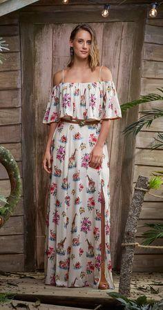 Só na Antix Store você encontra Vestido Longo Savana Florida II com exclusividade na internet