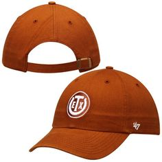 Men's '47 Brand Texas Orange Texas Longhorns Exes Clean Up Adjustable Hat