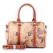 Retro Women World Map Pillow Type Handbag Messenger Bag Shoulder Bag
