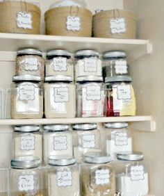 $10 Upcycled Pantry Makeover....free labels