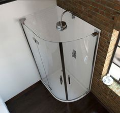 1200x900mm 6 Series Frameless Offset Quadrant Shower Enclosure (Right) - V10121087KW scene2 square large