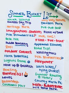 Creating a summer bucket list is a great way to plan for some fun!