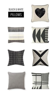 Oleander and Palm: Black and White Pillows - The Accessory for Every Season