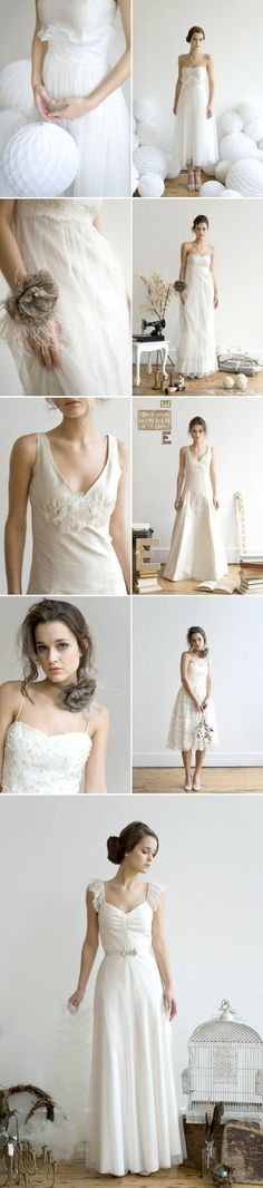 Love the last two dresses. Second to last is a good bridesmaid dress.