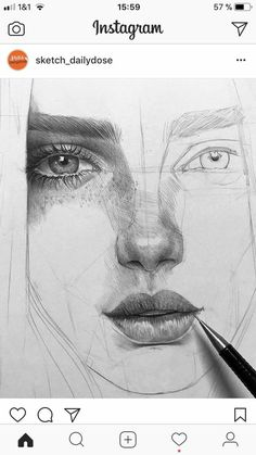 ♔ KUNST: Akademisches Zeichnen- Drawing tips for a wonderful Portrait…. it… ♔ KUNST: Akademisches Zeichnen- Drawing tips for a wonderful Portrait…. it is not easy create a face at first in your brain and. Pencil Art Drawings, Art Drawings Sketches, Realistic Drawings, Sketch Art, Easy Drawings, Cool Eye Drawings, Art Illustrations, Eye Drawing Tutorials, Drawing Techniques