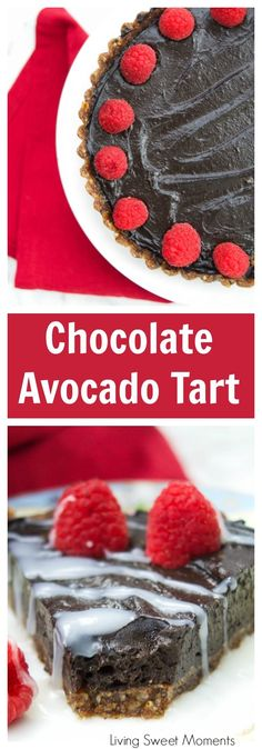 This no-bake decadent Chocolate Avocado Tart is vegan, gluten-free, easy to make and delicious. Enjoy the creaminess of the avocado with the cocoa flavor. #ad #SaboreaUnoHoy