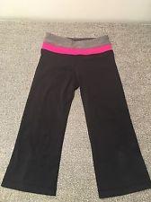 Lululemon Yoga Groove Crop Black, Pink, Gray Reversible Capri Pants Size 2 #lululemon #fitness #yoga #running