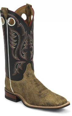 Mens Cowboy Boots Bent Rail By Justin Boots Distressed Brown Bomber