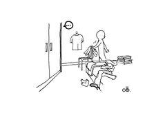 不知道有多少人跟HD有一樣的習慣,習慣衣服放床邊,習慣褲子掛椅背,習慣即使摺好了衣服,還是打死不放進衣櫃,寧願放床頭... 只因為懶得開衣櫃門。(揍飛)  環境 養成 習慣