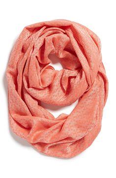 Wardrobe staple | Coral infinity scarf.