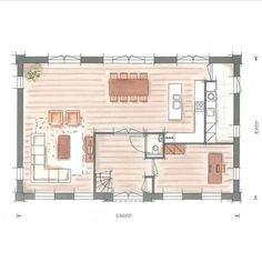Building a house Nachtpauwoog ground floor - Building a house Nachtpauwoog ground floor - Small House Plans, House Floor Plans, Media Room Design, Mobile Home Decorating, Villa, House Layouts, Building A House, Build House, Ground Floor