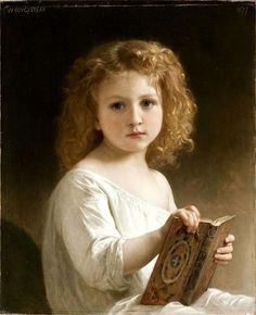 William-Adolphe Bouguereau - The Story Book, 1877