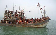 Vítimas de tráfico de pessoas num arrastão tailandês -  Sul Bangladesh - Guarda Costeira de Bangladesh