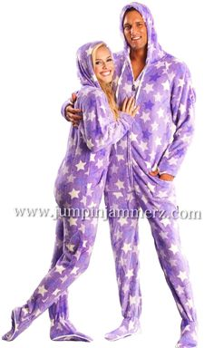 Twin with your hubby in Adult Onesie's unisex adult footed onesie pajamas! #pajama #adultonesie #onesie #pajamas #footedpajama #footie #onepiece #footlesspajamas #jumpinjammerz