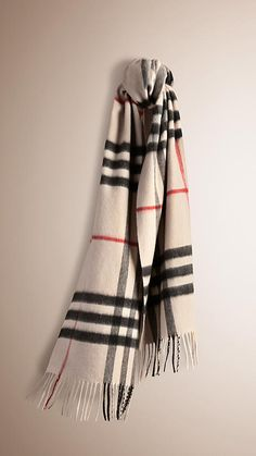 My newest scarf- it's so freaking soft!  Stone check The Classic Cashmere Scarf in Heritage Check -  1