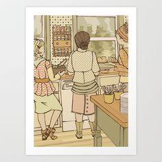 The+Kitchen++Art+Print+by+theFAMILYlife+-+$15.00