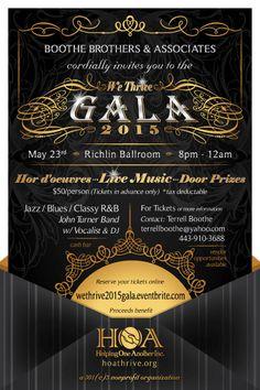 We Thrive 2015 Gala Invitation - side A