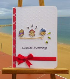 Card christmas lawn fawn - winter sparrows #wintersparrows - seasons tweeting - Less is More