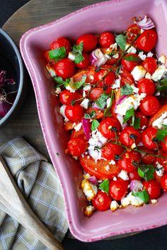 Bruschetta, I Foods, Feta, Bbq, Good Food, Healthy Recipes, Healthy Food, Vegetarian, Lunch