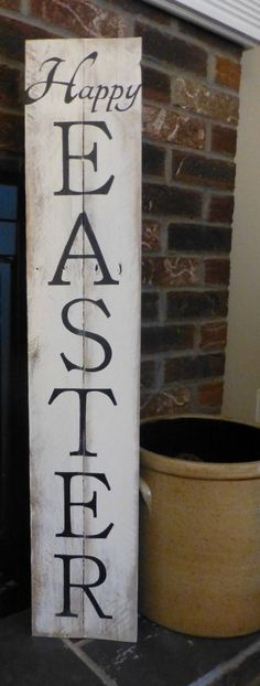 Happy Easter rustic porch sign by Twoheartssigns on Etsy