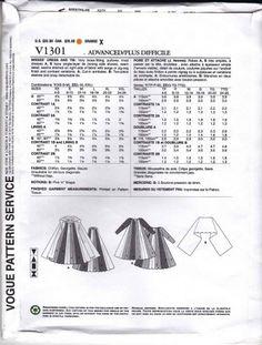 Vogue Sewing Pattern 1301 Misses' 16-26 Koos Van Den Akker Color Blocked Dress