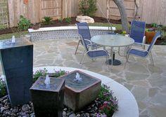Custom Patio Fountain Flagstone Design My Yard Austin, TX