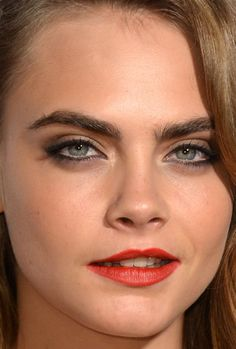 Close-up of Cara Delevingne at the 2015 ELLE Style Awards. http://beautyeditor.ca/2015/03/02/elle-style-awards-2015