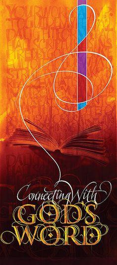 Rod Sawatsky ~ calligraphy~     We Love Him, Because He First Loved Us.  John 4:19