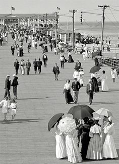 1932 on the boardwalk in New Jersey, back when you had to dress up to walk on the boards.