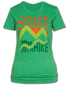 Take a Hike Organic Earth T-Shirt at Soul Flower Clothing, $26.00