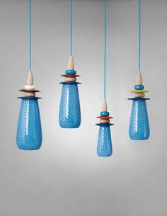 Forbidden Fruit Pendant Lamp WHITE & Blue