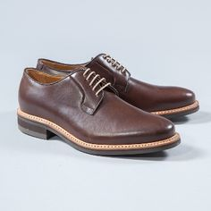 Berwick Brown Oxford Shoes: Berwick use premium leather from the German tannery of Jon Rendenbach Jr. where the cuts are tanned for a year in oak leaves. After this, the final colouring and patina effect is done by hand so each pair is totally unique.