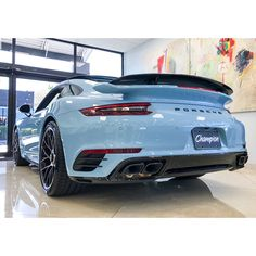 Some more shots of the gorgeous paint to sample Gulf Blue 911 Turbo S in our preowned department. Who's ready to turn some heads? Be a Champion #1 Porsche Dealer in America #ChampionPorsche #nosubstitute  #porsche #thereisnosubstitute #911 #9912 #turbo #preowned #sportscar #performance #power #presence #porschemoment #painttosample #pts #gulfblue #getoutanddrive #destination #nations #largest #beachampion