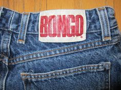 80's BONGO jeans-- acid/stone washed