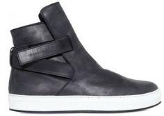 Kris-Van-Assche-belted-strap-calfskin-leather-sneakers