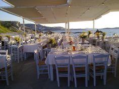 Sea Satin Market, under the windmills, Mykonos - tavern with typical Greek experience