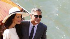 29 Septembre 2014. George Clooney et sa fiancée Amal Alamuddin se sont dit oui à Venise.