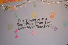 This would be great on a wall with hand prints of all family members. Also their name could be stenciled under their hand print. Great Quotes, Quotes To Live By, Me Quotes, Inspirational Quotes, Quotable Quotes, Affirmations, All Family, Happy Family, Teacher Quotes