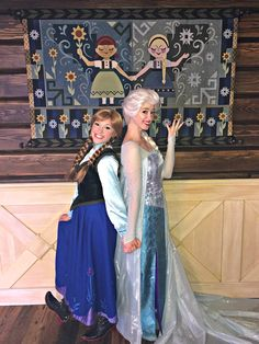 Elsa and Anna, Walt Disney World, Royal Sommerhus, Face Characters
