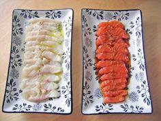Sashimi de salmón marinado