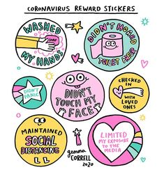 3 sheets of fun stickers as a reward! Washed my hands! Didn't touch my face! Didn't Panic Limited my exposure to the media! You need a little reward everyday! Reward Stickers, Craft Stickers, Ohh Deer, Self Compassion, First Love, My Love, Don't Panic, Spread Love, All You Can